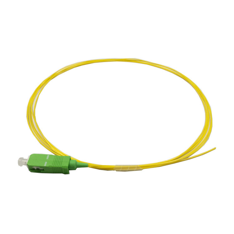 Cable de fibra óptica APC Pigtail LC APC, cable flexible Simplex 9/125, cable de fibra óptica de modo único con coleta de 0,9mm y 2,0mm, chaqueta de PVC 1m 50 Uds. Conector rápido FTTH SC APC, 100 Uds., 50 Uds., fibra óptica de modo único, conector rápido SC UPC, adaptador de fibra óptica de cola recta