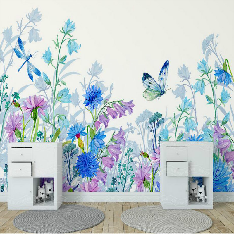 US $12.75 49% OFF|Custom 3d Wall Paper Wallpaper for Walls 3d Murals  Background floral butterfly Wallpaper Bedroom Living Room Home  Improvement-in ...