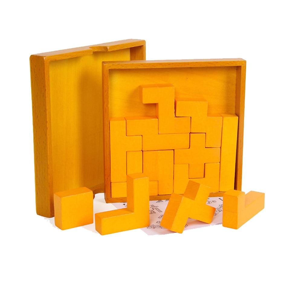 Woodentoy Tangram Puzzles apprentissage précoce éducation illumination bébé pensée Active développement des jouets du cerveau