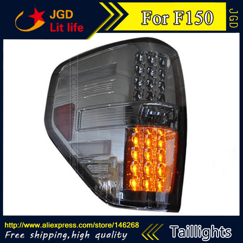 Car Styling tail lights for Ford Raptor F150 LED Tail Lamp rear trunk lamp cover drl+signal+brake+reverse car styling tail lights for ford ecopsort 2014 2015 led tail lamp rear trunk lamp cover drl signal brake reverse
