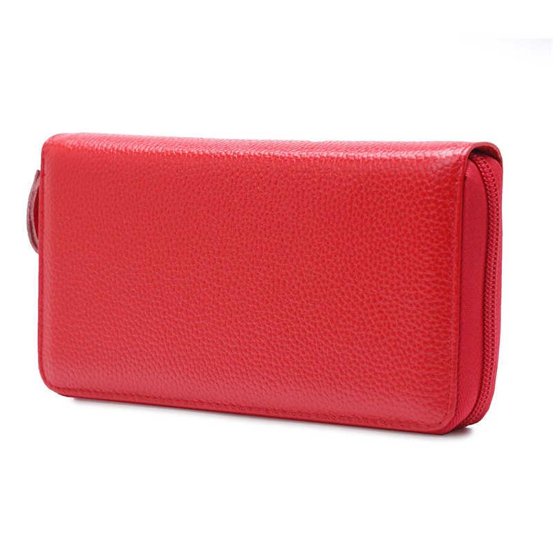 HMILY Heißer Verkauf Frauen Kupplung Leder Geldbörse Aus Echtem Leder Weibliche Lange Brieftasche Zipper Geldbörse Geld Tasche Geldbörse Für IPhone