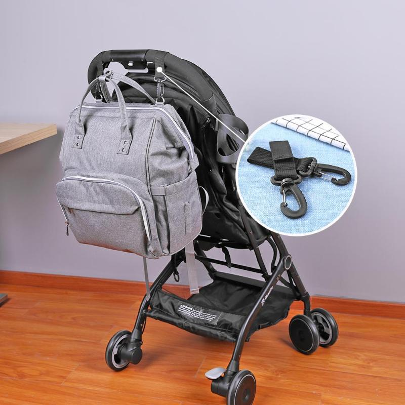 2Pcs Baby Stroller Hooks Mummy Diaper Bag Hanger Hooks Shopping Bag Clip Stroller Pram Accessories