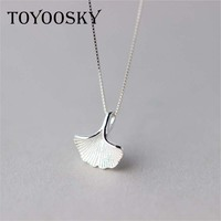 Bepa S 925 Sterling Silver Ginkgo Leaf Necklace Designer Handmade Pendant Women Fashion Jewelry Necklaces Pendants
