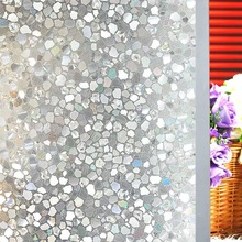 90*200cm Decorative Film Privacy Window Laser Stone Foil Glass Sticker Static Cling anti-UV Office bedroom door Home Decor