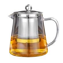 5 размеров хорошее Ясно, боросиликатное Стекло Чай горшок с 304 Нержавеющая сталь Infuser тепла Кофе Чай горшок инструмент чайник комплект
