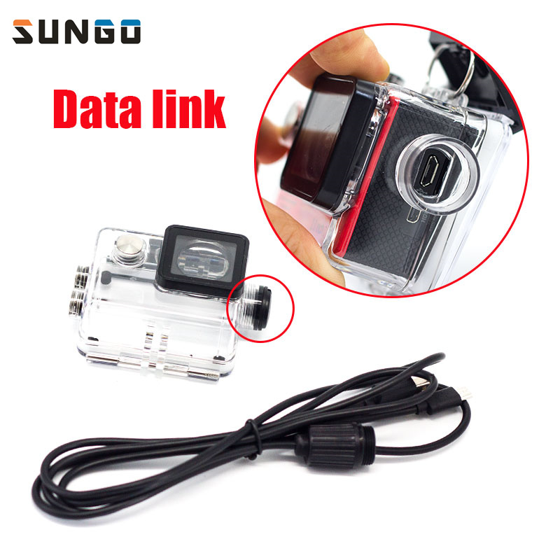 Sport Camera Accessories Waterproof Case Charger shell With USB Cable for SJCAM SJ4000 WiFi Sj7000 Soocoo c30 H9 For Motocycle