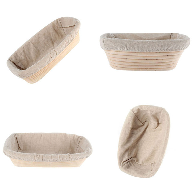 Hot Sales Factory Price! Oval Dough Banneton Brotform Dougn Rattan Bread Proofing Proving Baskets 3 Sizes