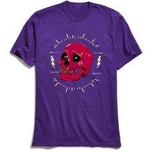 T Shirt Custom Men Tops Rock N Roll Skull O Neck T-Shirt Fall Tees Purple TShirt Short Sleeve 2018 New Cotton Clothes Streetwear