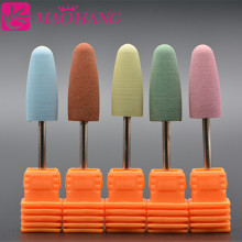 1 шт. профессиональная Насадка-фреза для ногтей, резиновая силиконовая насадка для полировки шлифовальная насадка для ногтей, электрическая маникюрная дрель