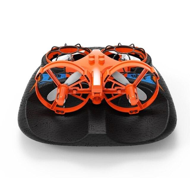 Eachine E016F 3-en-1 EPP avion volant bateau Mode de conduite terrestre détachable une clé retour RC quadrirotor RTF enfants jouet