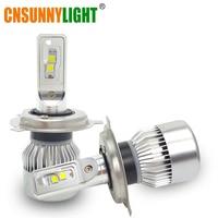 CNSUNNYLIGHT H4 Car LED Headlight Bulbs High Low Beam 70W 9000LM Auto Headlamp White Lights 12V