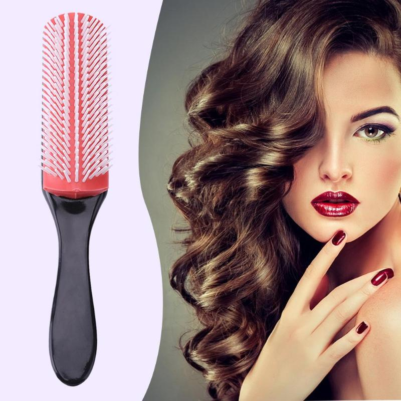 9 Rows Hair Brush Comb Oil Head Hair Fine Massage Combs Brushes Men Anti-static Magic Salon Styling Hairdressing Scalp Massager