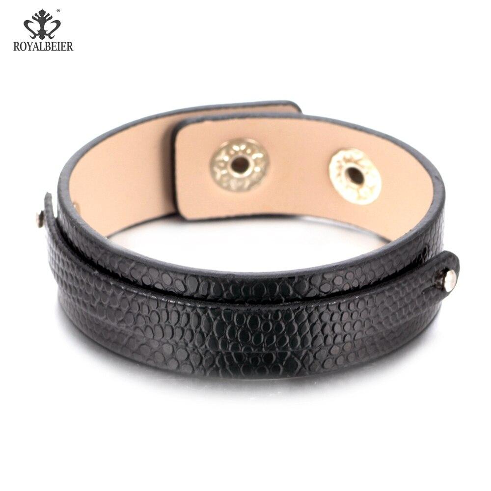 Ehrlich Royalbeier Handgemachte Diy Charms 15 Farbe Leder Armband & Armreifen Snaps Frauen Schmuck Fit 12mm Druckknopf Schmuck Sz0370a