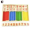 Детские игрушки подсчет палочки образовательные деревянные игрушки строительные блоки разведки монтессори математические деревянный ящик подарок HT2369