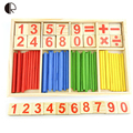 Baby Toys Counting Sticks Educational Wooden Toys Building Intelligence Blocks Montessori Mathematical Wooden Box Gift HT2369