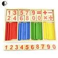 Juguetes para bebés de conteo palillos de construcción juguetes educativos de inteligencia bloques Montessori matemáticas regalo caja de madera HT2369