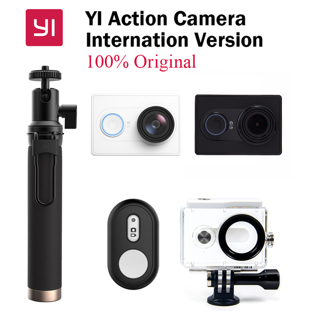 Original novo xiaomi yi xiaoyi wifi esporte action camera camera 16mp 60fps wi-fi ambarella bluetooth versão internacional