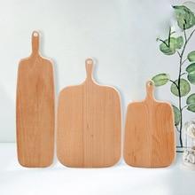 Hippo Hause Holzbrett Küche Hackklotz Holz Kuchen Sushi Platte Tabletts Brot Obst Pizzablech Backen Werkzeug