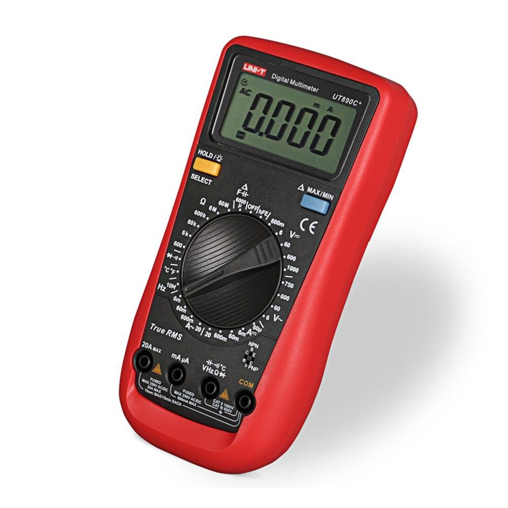 UNI-T UT890C + True RMS мультиметр ЖК-дисплей цифровой Дисплей Электрические инструмент амперметр
