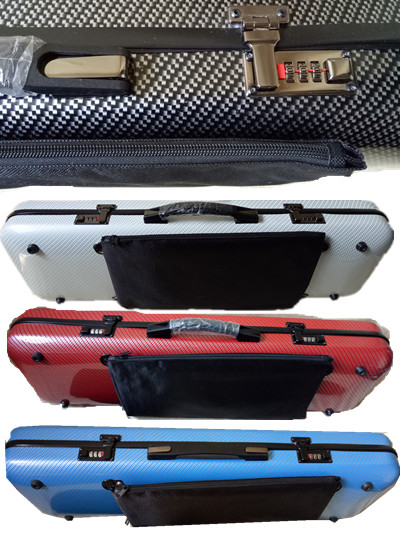 One Violin 4/4 Glass fiber case   Yellow white black blue red color Waterproof Light Durable Dropshipping Wholesale white blue stitching color 4 4 glass fiber violin case