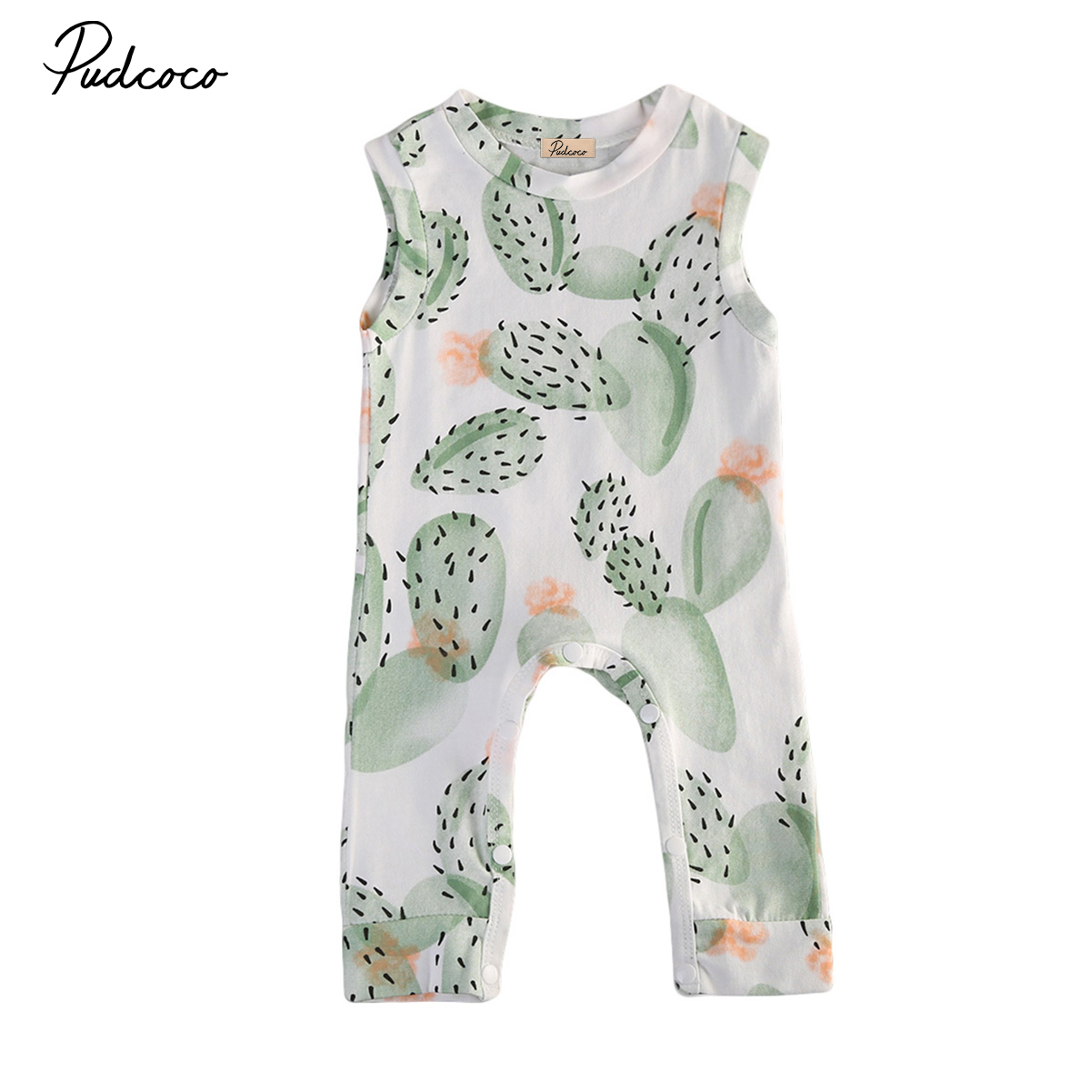 Summer cactus Baby Clothing Toddler Boy Girl Kids Cotton Floral Romper Jumpsuit Clothes Outfit