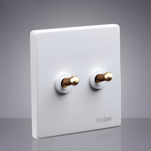 Type 86 1-4 Gang White Toggle Lamp Switch Outlet Brass Lever Single Dual Control Retro Light Switch Wall Power Socket Panel Set скраб для тела miko miko mi071lwanht7