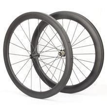 700c clincher carbon wheelset 50mm carbon 3k carbon speed cycle wheel ceramic bearings  r36 hub