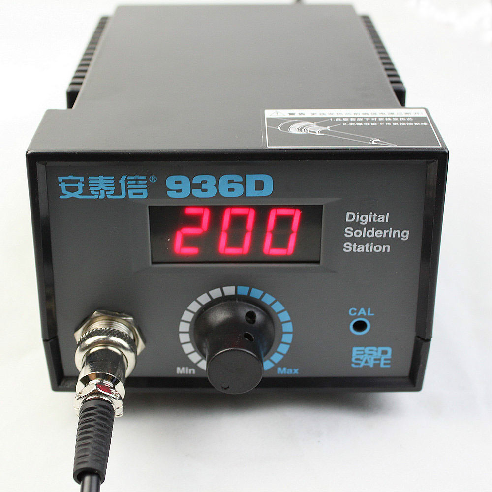 ATTEN AT936D Digital Display Lead-free Thermostatic Soldering Station Solder Iron 50W 220V  цены
