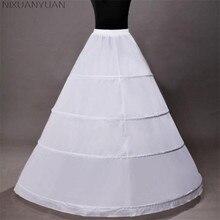 NIXUANYUAN 4 кольца бальное платье Свадебные аксессуары слипы кринолин подъюбник для свадебного платья