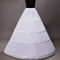 Nixuanyuan الساخن بيع 4 الأطواق الكرة ثوب الزفاف الملحقات تنورات قماش قطني ل فستان الزفاف تحتية زلات