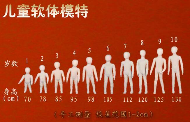 4994f7cccf2f En gros 1 PC 1-5 année enfant modèle props, souple mannequin affichage  magasin de vêtements mannequins avions enfants envoyer la base HY031