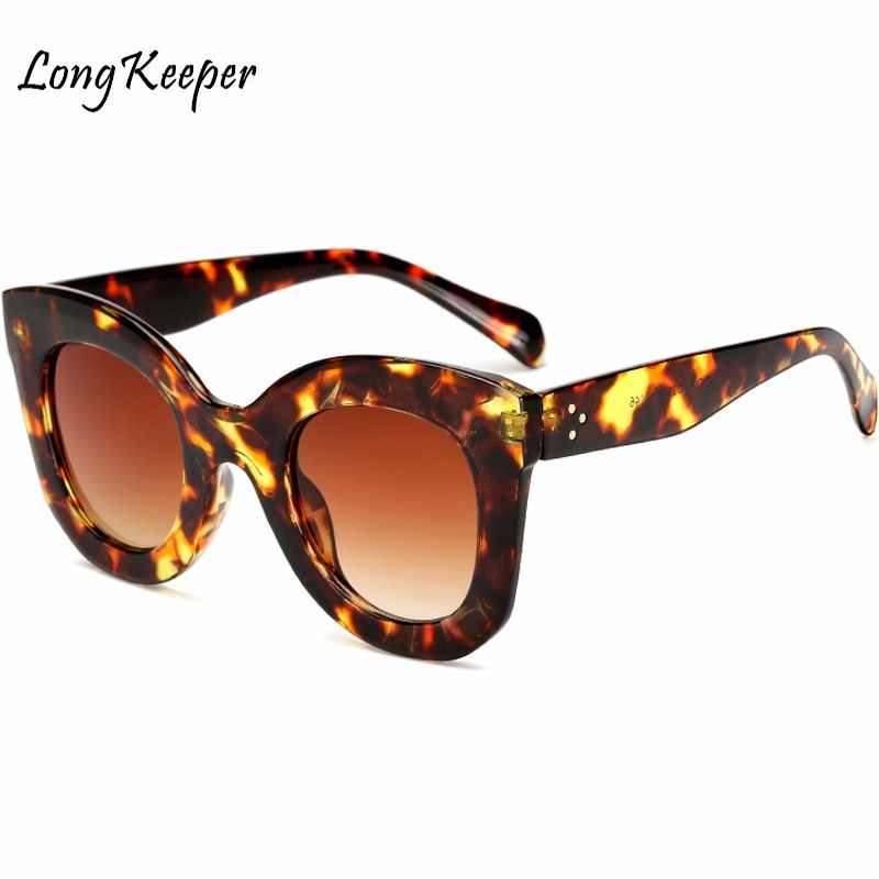 4bf6377bf0d8 Long Keeper Brand Designer Women Square Retro Men Sunglasses 2018 Fashion  Oversided Lady Leopard Frame New