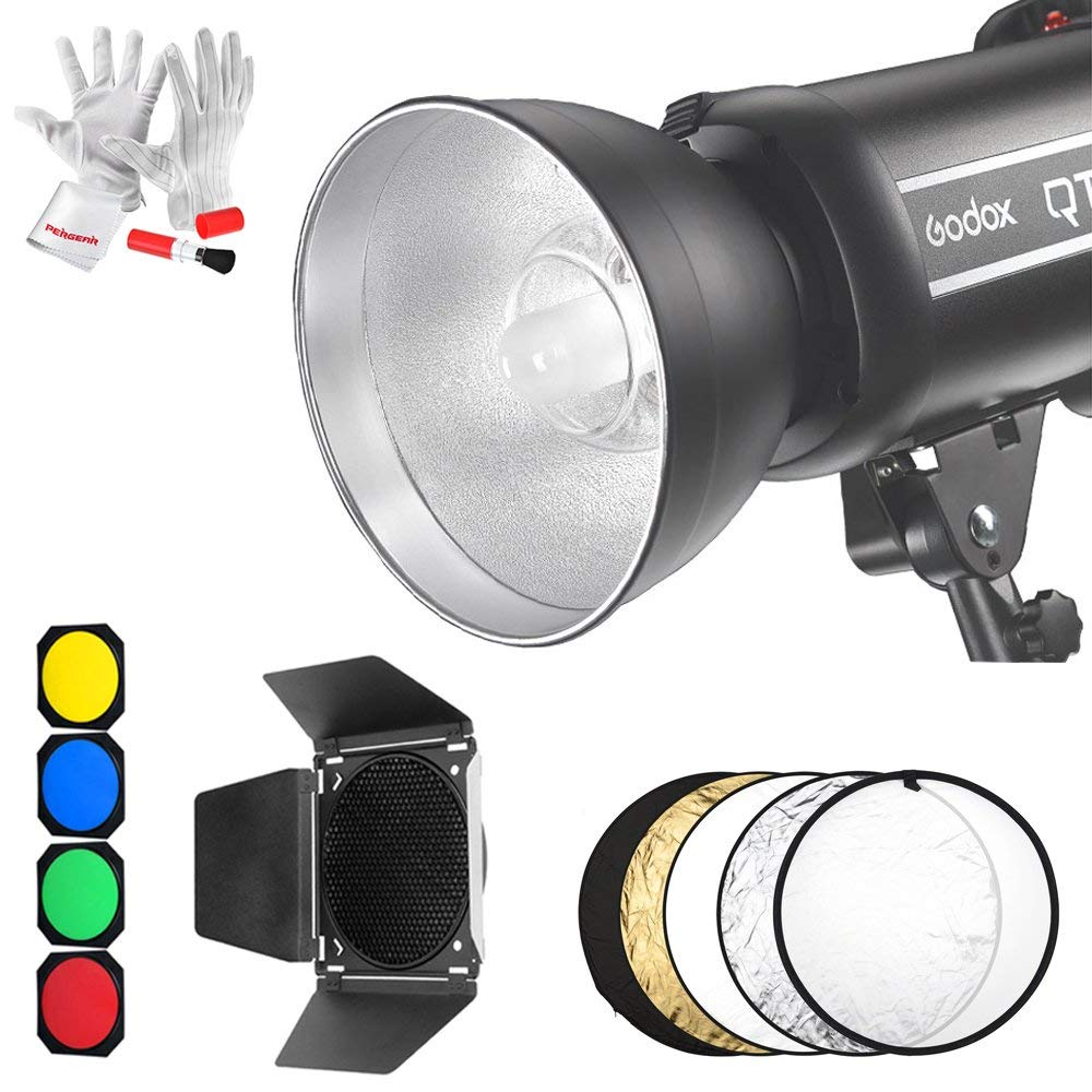 Godox QT600II 600WS GN76 1/8000s HSS Studio Flash Strobe Light Features 0.05-0.9s Recycle time, Built in 2.4G Receiver CD50