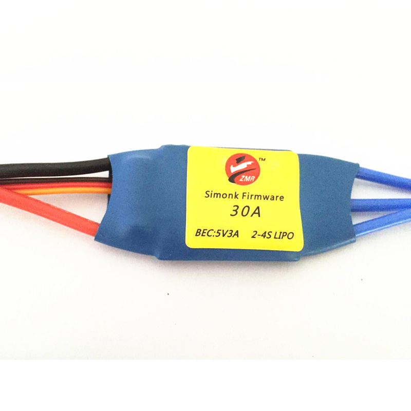 ZMR SimonK Firmware 20A 30A 40A 5V3A Brushless ESC Electric Speed Controller 2-4S LIPO for FPV Multi rotor Quad Standard Edition free shipping 4pcs lot ztw spider series 3 6s 12a 20a 30a 40a 50a 60a opto esc simonk for multi rotor aircraft