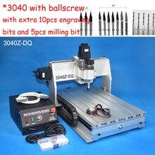 Hot 3040 Ballscrew cnc router wood carving router mini cnc engraving machine PCB milling machine cnc