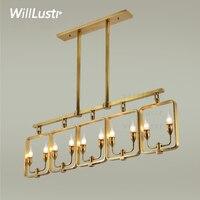 Willlustr lampada a sospensione in rame ottone hanging light lampadario candela moderna illuminazione a sospensione american moda paese nordico