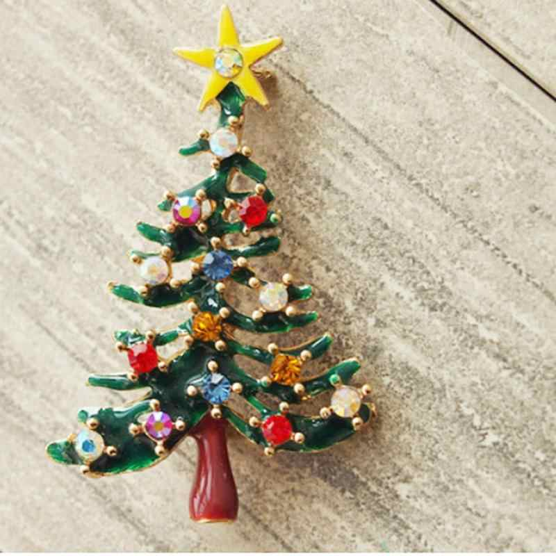 Jewelry Christmas Trees.Jewelry Brooches Christmas Tree Brooch 1 Pcs Cute New Year Christmas Tree Xmas Gift Alloy Brooch Pin Party Decoration