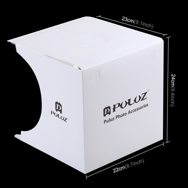 Mini Folding Lightbox Photography Photo Studio Softbox 2 Panel LED Light Soft Box Photo Background Kit