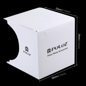 Image 4 - Mini Vouwen Lightbox Fotografie Foto Studio Softbox 2 Panel Led Light Soft Box Foto Achtergrond Kit Light Box Voor Dslr camera