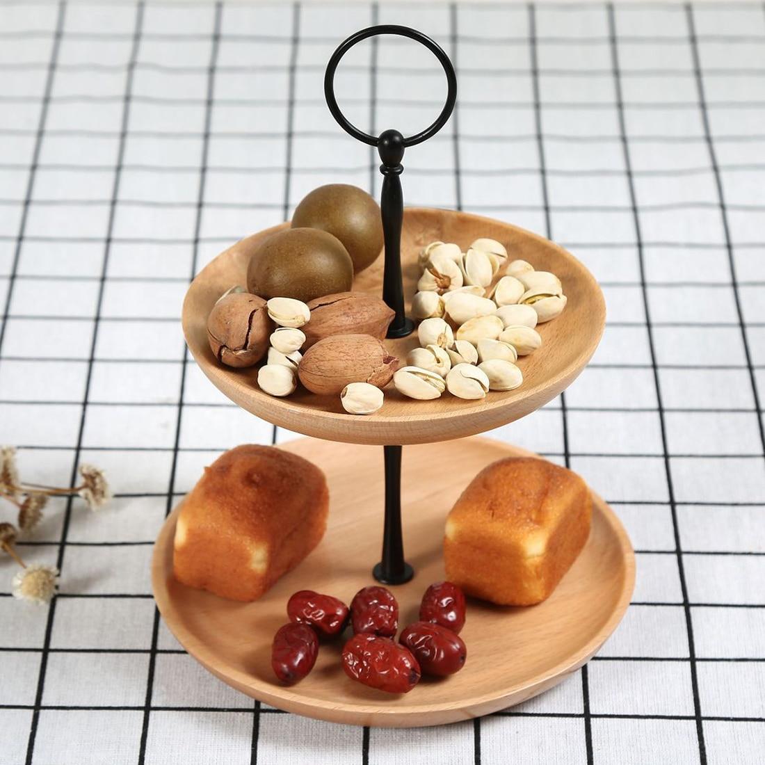 Unique en bois massif cake stand Cupcake Display Stand de fruits