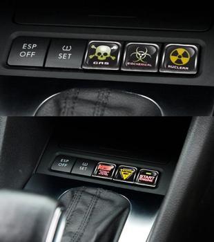 Aliauto 6 x Funny Car Decoration Waterproof car internal Button Sticker And Decals For Volkswagen Polo Golf 5 6 7 jetta Passat aliauto funny car sticker
