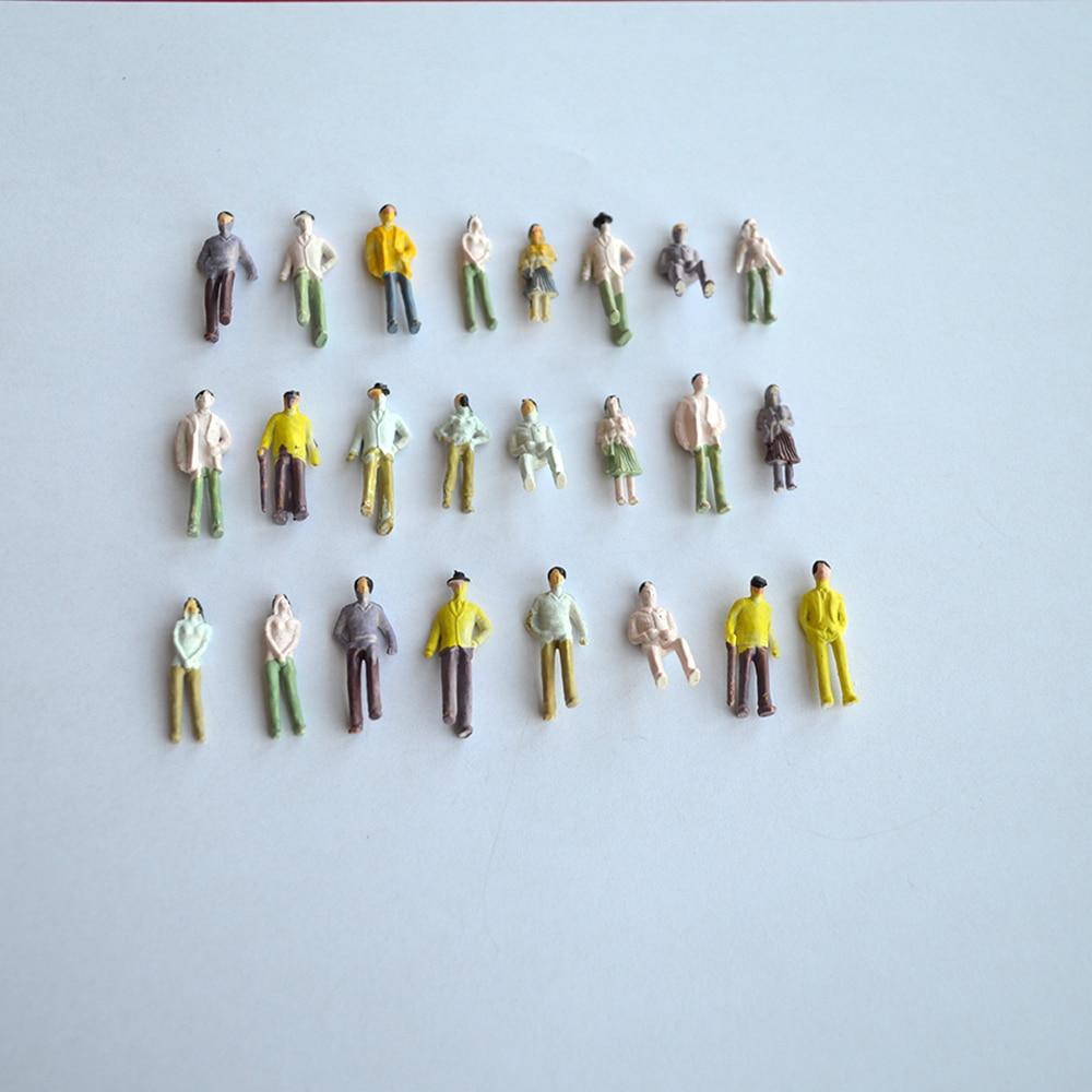 Bonito color construcción personas pintadas modeltrain pasajero ...