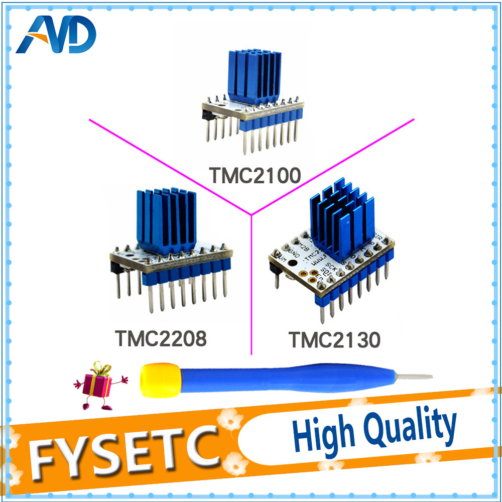 Online Shop 4pcs Stepper Motor Driver Module Tmc2130 Integrated Plus Tmc2100 V13 Tmc2208 V12 Stepstick Mute Silent