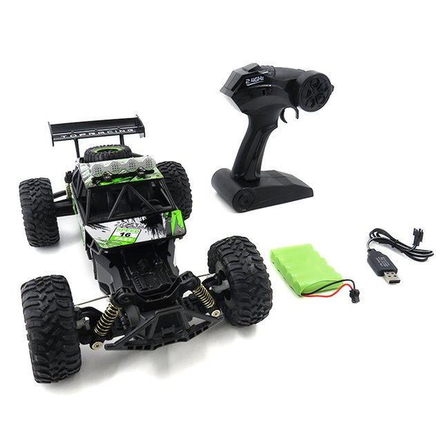 Flytec SL156A 1/18 Scale 2.4Ghz 4WD High Speed RC Crawler Climber Buggy Off-Road Rock Electric RC Remote Control Car RTR