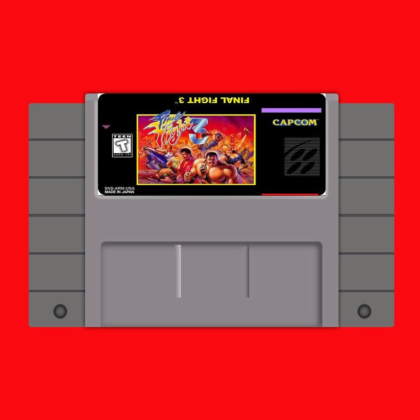 Schluss Kampf 3 (FF3) 16 bit Großen Grauen Spielkarte Für USA NTSC Spiel Player