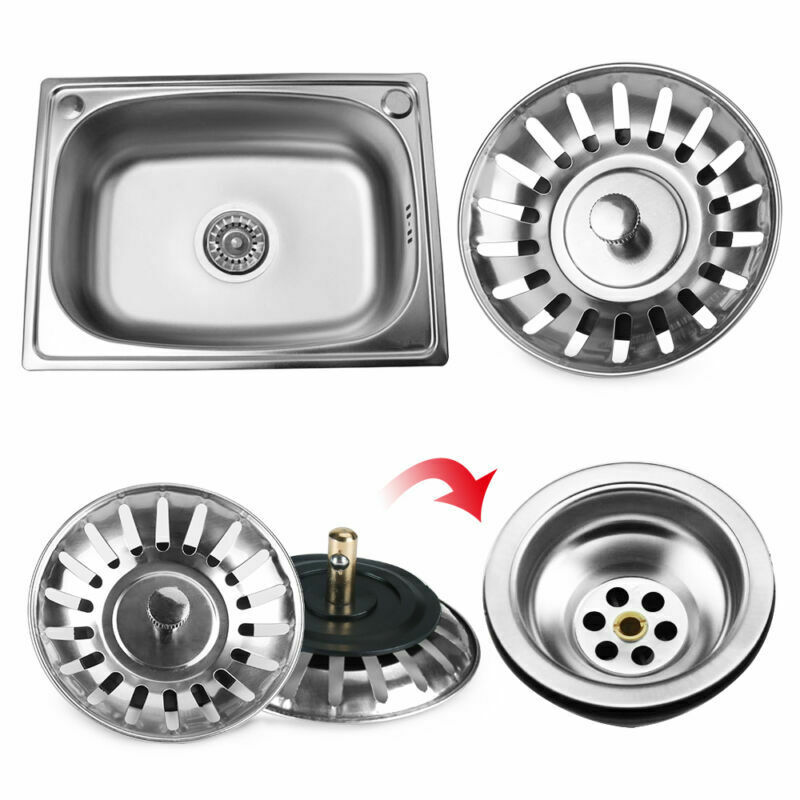 Kitchen Sink Stainless Steel Strainer Stopper Waste Plug Sink Filter Bathroom Hair Catcher Basin Sink Drain Kitchen Accessories
