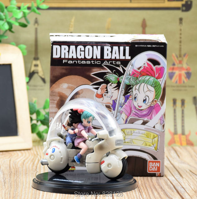 Us 1699 Dragon Ball Z Gt Action Figure Bulmagoku Motorcycle Scene Pvc Cool Japanese Cartoon Dragonball Toy Best Gift Di Aksi Toy Angka Dari