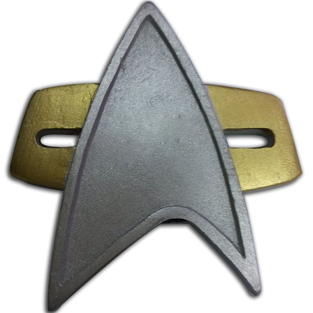 Star Trek Badge Cosplay Starfleet Badge Pin Insignia Brooch Combadge Captain Rank Cosplay Prop Version F