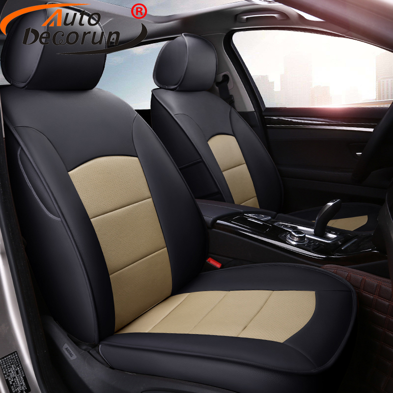 AutoDecorun 15PCS/Set Perforated Genuine Leather Seat