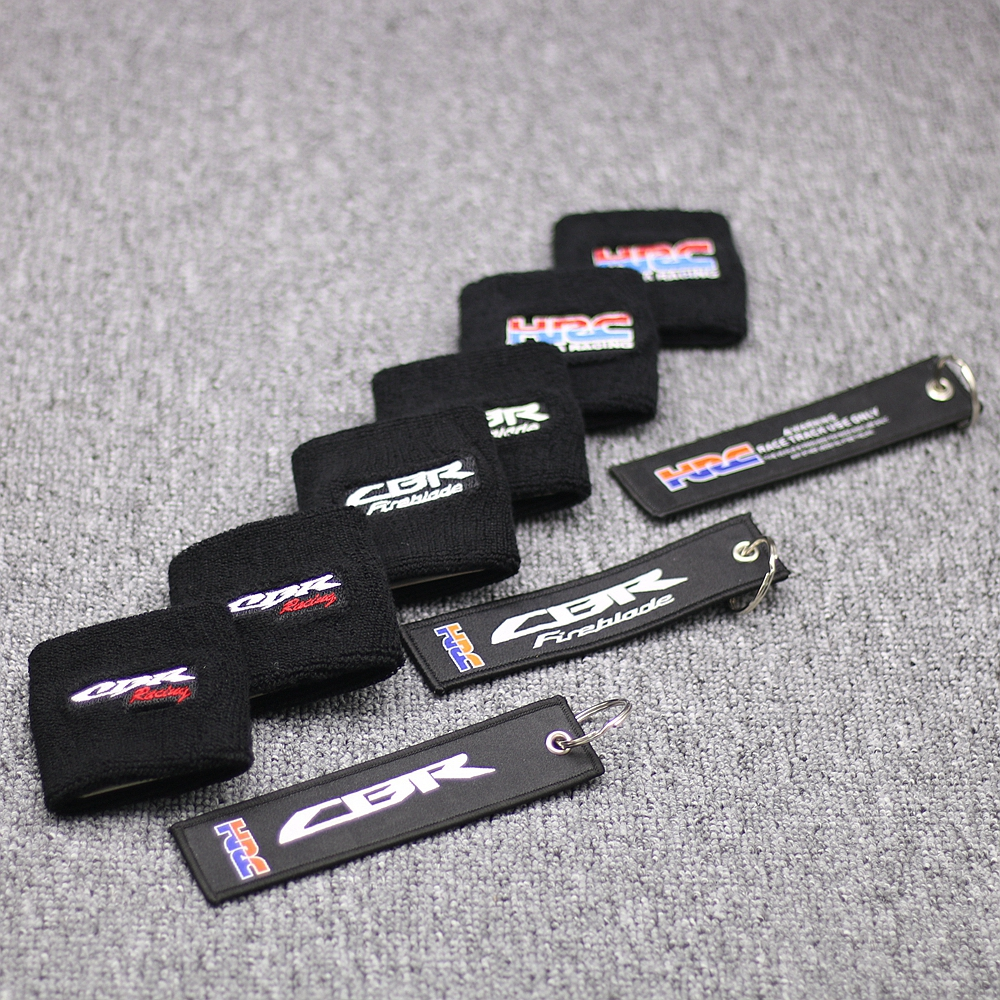 2 Pcs CBR Fireblade /& HRC BRAKE RESERVOIR SOCKS FOR HONDA CBR1000RR CBR600RR NSR250R CB600 CB1000R CBF1000 CBR 929 900 954